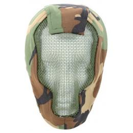 Black Bear RAZOR 1000D Steel Mesh Full Face Airsoft Mask - WOODLAND