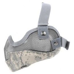Black Bear RAIDER Steel Mesh Padded Airsoft Lower Face Mask - ACU