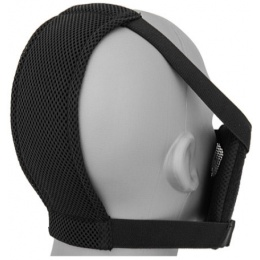 Black Bear Airsoft Steel Mesh Padded Lower Face Mask - BLACK