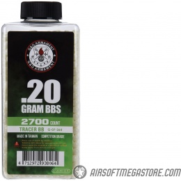 G&G 6mm Competition Grade 0.20g Airsoft Tracer BBs [2700 Round Bottle] - GREEN