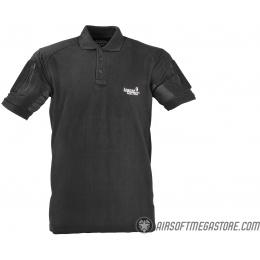 Lancer Tactical Short-Sleeve Polo Shirt [2XL] - BLACK