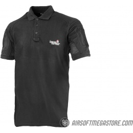 Lancer Tactical Short-Sleeve Polo Shirt [Medium] - BLACK