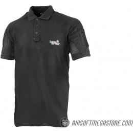 Lancer Tactical Short-Sleeve Polo Shirt [XL] - BLACK