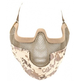 Black Bear Airsoft Steel Mesh Padded Lower Face Mask - DESERT MARPAT