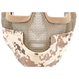 Black Bear Airsoft Steel Mesh Padded Lower Face Mask - DESERT MARPAT