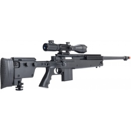 WellFire MB4407 Bolt Action Airsoft Sniper Rifle w/ Scope - BLACK