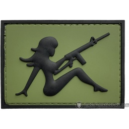 G-Force Mudflap Girl w/ Rifle PVC (Left) Patch - OD/BLACK