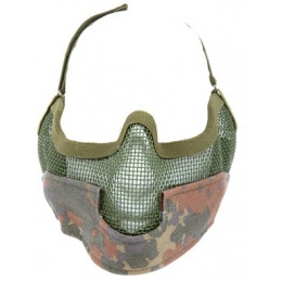 Black Bear Airsoft Steel Mesh Padded Lower Face Mask - FLECKTARN