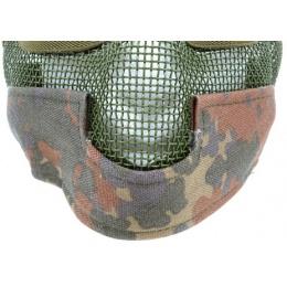Black Bear Airsoft Steel Mesh Padded Lower Face Mask - FLECKTARN