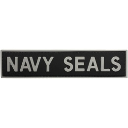 G-Force Navy Seals PVC Morale Patch - BLACK/GRAY