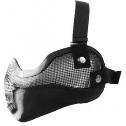 Black Bear Airsoft Steel Mesh Padded Lower Face Mask - GHOST