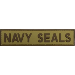 G-Force Navy Seals PVC Morale Patch - TAN/BROWN