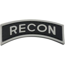 G-Force Recon Arch PVC Morale Patch - BLACK/GRAY