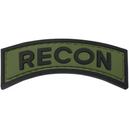 G-Force Recon Arch PVC Morale Patch - OD/BLACK
