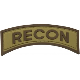 G-Force Recon Arch PVC Morale Patch - TAN/BROWN
