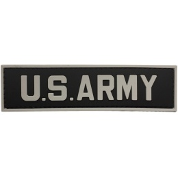 G-Force U.S. Army PVC Morale Patch - BLACK/GRAY