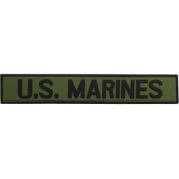 G-Force U.S. Marines PVC Morale Patch - OD/BLACK