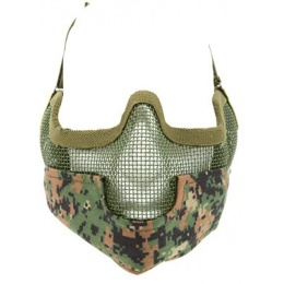 Black Bear Airsoft Steel Mesh Padded Lower Face Mask - MARPAT