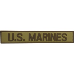 G-Force U.S. Marines PVC Morale Patch - TAN/BROWN