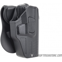 Cytac Concealable Hard Shell Holster for Glock [G19, G23, G21] - BLACK