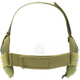 Black Bear Airsoft Steel Mesh Padded Lower Face Mask - OD GREEN