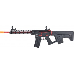Lancer Tactical Enforcer BLACKBIRD Skeleton AEG w/ Alpha Stock [HIGH FPS] - BLACK/RED