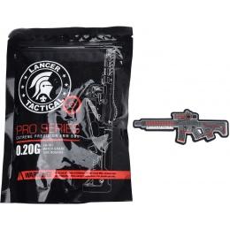 Lancer Tactical Enforcer BLACKBIRD Skeleton AEG w/ Alpha Stock [HIGH FPS] - BLACK/RED