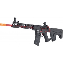 Lancer Tactical Enforcer BLACKBIRD Skeleton AEG w/ Alpha Stock [LOW FPS] - BLACK/RED