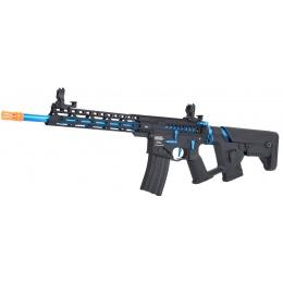 Lancer Tactical Enforcer BLACKBIRD Skeleton AEG w/ Alpha Stock [HIGH FPS] - BLACK/BLUE