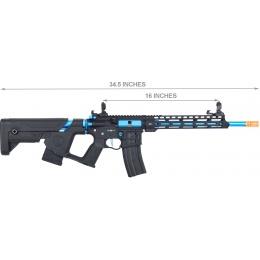 Lancer Tactical Enforcer BLACKBIRD Skeleton AEG w/ Alpha Stock [LOW FPS] - BLACK/BLUE