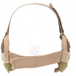 Black Bear RAIDER Steel Mesh Padded Airsoft Lower Face Mask - TAN