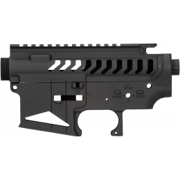 Lancer Tactical M4 AEG Full Metal Skeletonized Upper and Lower Receiver - BLACK
