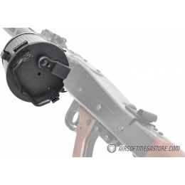 JGM 2000rd MG42 Airsoft AEG Machine Gun Magazine - BLACK