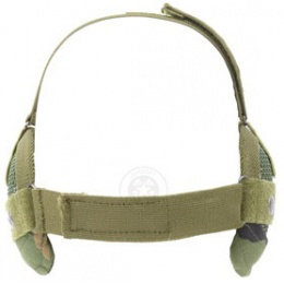Black Bear RAIDER Steel Mesh Airsoft Lower Face Mask - Woodland