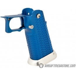 Airsoft Masterpiece Aluminum Grip for Hi-Capa Airsoft Pistols Type 11 - BLUE