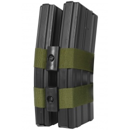 BattleAxe Airsoft Double Magazine Connector Clamp w/ Adjustable Straps