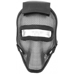 Black Bear REAPER 1000D Steel Mesh Full Face Airsoft Mask - BLACK