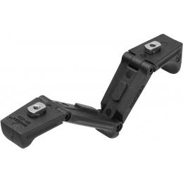 Amoeba Adjustable Angled M-LOK Foregrip Handstop - BLACK
