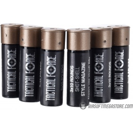 Umarex Tactical Force Tri-Shot Airsoft Shotgun Shells [6 PACK] - BLACK