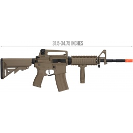 Lancer Tactical LT-04 Hybrid Gen 2 M4 RIS Airsoft AEG [HIGH FPS] - TAN