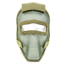 Black Bear REAPER 1000D Steel Mesh Full Face Airsoft Mask - OD GREEN