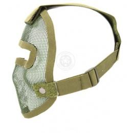 Black Bear REAPER 1000D Steel Mesh Full Face Airsoft Mask - OD GREEN