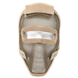Black Bear REAPER 1000D Steel Mesh Full Face Airsoft Mask - TAN