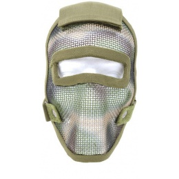 Black Bear REAPER 1000D Steel Mesh Full Face Airsoft Mask - WOODLAND