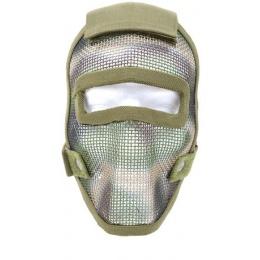 Black Bear REAPER 1000D Steel Mesh Full Face Airsoft Mask - WOODLAND