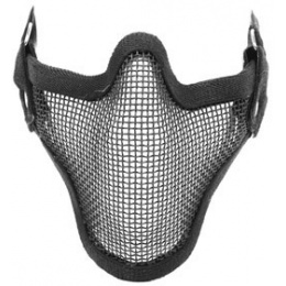 Black Bear SHADOW Steel Mesh Lower Face Airsoft Mask - BLACK