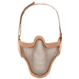 Black Bear Airsoft SHADOW 1000D Steel Mesh Lower Face Mask - COYOTE