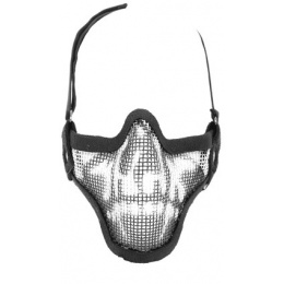Black Bear SHADOW Steel Mesh Lower Face Airsoft Mask - GHOST
