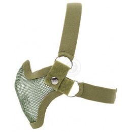 Black Bear SHADOW Steel Mesh Lower Airsoft Face Mask - OD GREEN