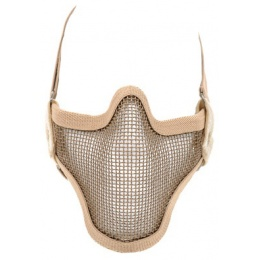 Black Bear SHADOW Steel Mesh Lower Face Airsoft Mask - TAN